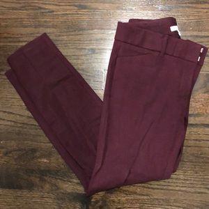 NY&CO maroon stretch dress pant